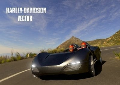 Harley-Davidson Vector: 3D Scan and CAD Creation from Clay Model