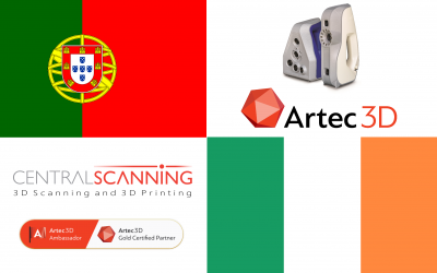Artec 3D resellers in Portugal and Ireland !